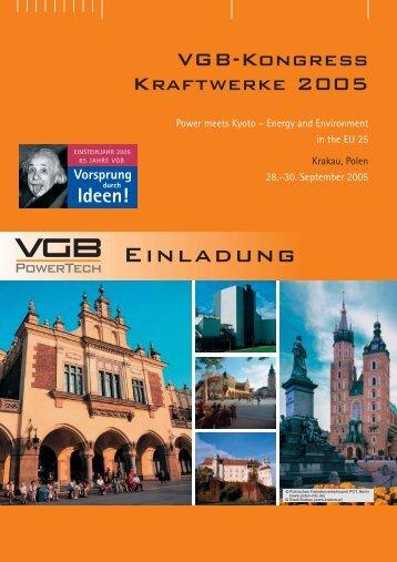 VGB-Kongress Kraftwerke 2005 - VGB PowerTech