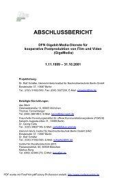 GigaMedia - DFN Gigabit-Media-Dienste für kooperative ...