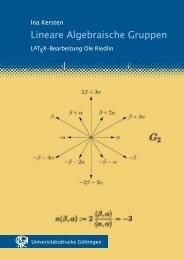 Lineare algebraische Gruppen - GWDG