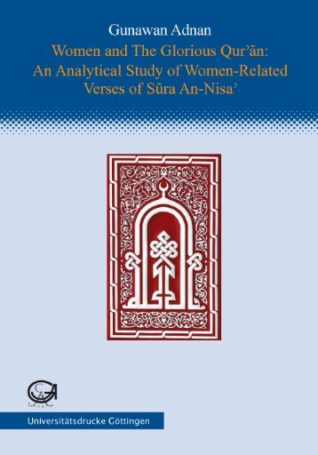 Women and the Glorious Qur'¯an : an analytical study of ... - GWDG