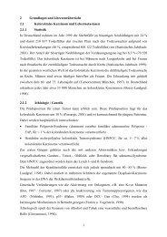 2 Grundlagen und Literaturübersicht 2.1 Kolorektales Karzinom und ...