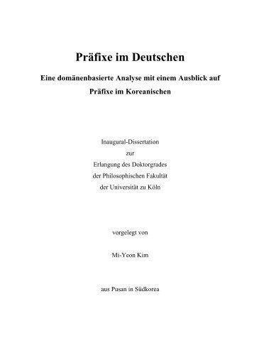 Präfixe im Deutschen