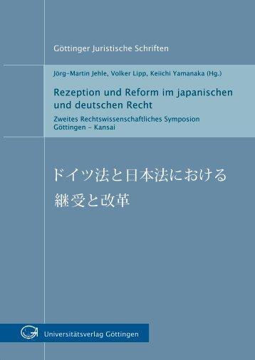 Rezeption und Reform im japanischen und deutschen Recht - Oapen
