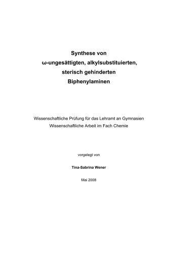 Synthese von ω-ungesättigten ... - TOBIAS-lib - Universität Tübingen