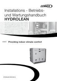 HYDROLEAN Installations - Betriebs- und ... - Lennox