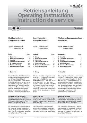Betriebsanleitung Operating Instructions Instruction de service