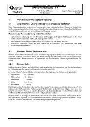 5.1 Allgemeines, Übersicht über verschiedene Verfahren