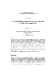 Grenzüberschreitung und Identitätskonstruktion in Daniel ... - werkstatt