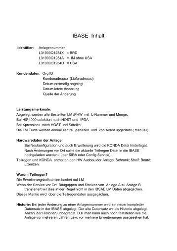 IBASE Inhalt - Wiki of Siemens Enterprise