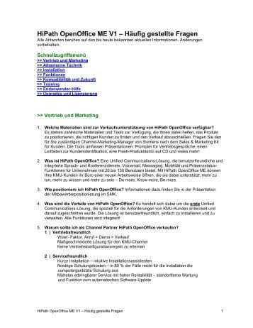 HiPath OpenOffice ME V1 - Wiki of Siemens Enterprise