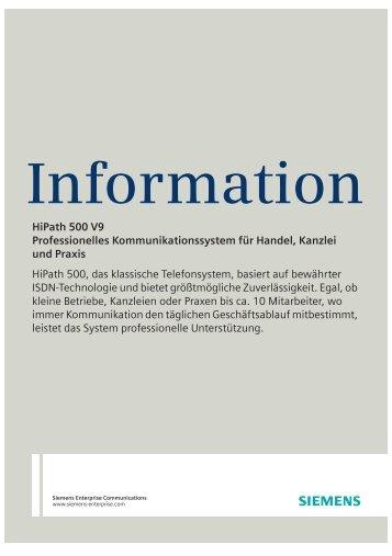 HiPath 500 V9 - Wiki of Siemens Enterprise - Siemens Enterprise ...