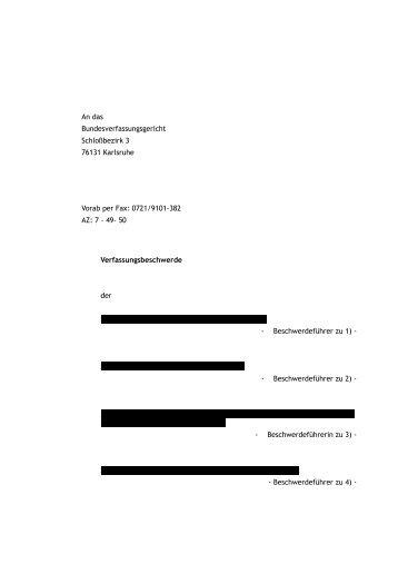 Verfassungsbeschwerde - Wiki