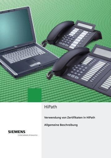 1 Zertifikate in HiPath - Wiki of Siemens Enterprise - Siemens ...