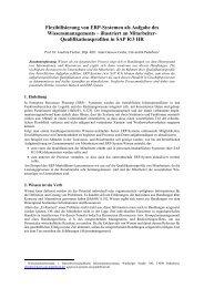 Flexibilisierung von ERP-Systemen als Aufgabe des ...