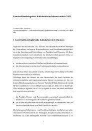 Konstruktionsintegrierte Kalkulation im Internet mittels XML 1 ...