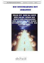DIE OFFENBARUNG DES JOHANNES - FeG Worms