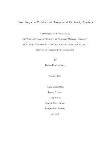 deregulation essay