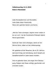 Volkstrauertag 14.11.2010 Rede in Wunsiedel Liebe ...