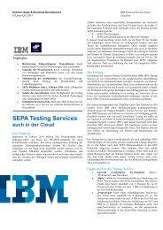 S-Letter SEPA Testing Services Q1 2013 - IBM