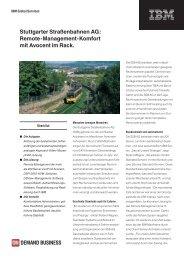 Stuttgarter Straßenbahnen AG: Remote-Management-Komfort ... - IBM
