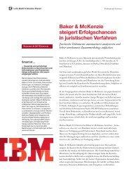 Baker & McKenzie steigert Erfolgschancen in juristischen ... - IBM