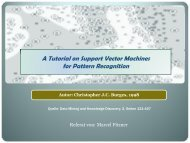 A Tutorial on Support Vector Machines for Pattern