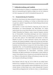 7 Schlussbetrachtung und Ausblick - Ruhr-Universität Bochum