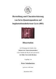 Herstellung und Charakterisierung von InAs-Quantenpunkten auf ...