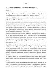 7 Zusammenfassung der Ergebnisse und Ausblick - Ruhr ...