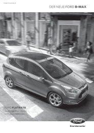 DER NEUE Ford B-MAX - Autohaus Ansel Ford Vertragshändler in ...