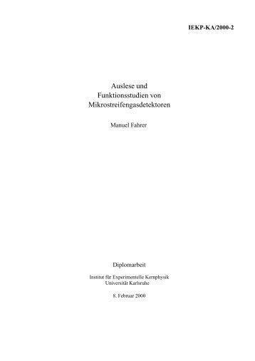 pdf - Institut für Experimentelle Kernphysik