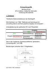 Computergrafik - Lehrstuhl Grafische Systeme