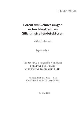 Titel des Textes - Institut für Experimentelle Kernphysik