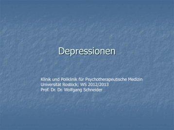 Depression - Klinik für Psychosomatik und Psychotherapeutische ...