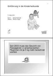 Einführung in die Kinderheilkunde