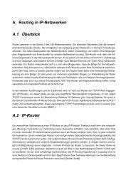 A Routing in IP-Netzwerken A.1 Überblick A.2 IP-Router