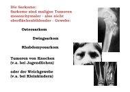 Die Sarkome: Sarkome sind maligne Tumoren mesenchymaler ...