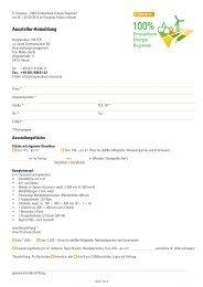 Anmeldeformular für Aussteller (pdf) - 5. Kongress