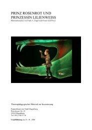 PRINZ ROSENROT UND PRINZESSIN ... - Puppentheater Magdeburg