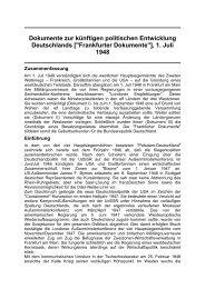 1. Juli 1948 - 100(0) Schlüsseldokumente zur deutschen Geschichte ...