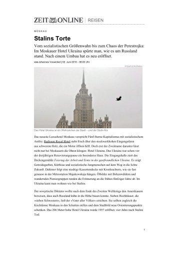 Stalins Torte - Radisson Blu