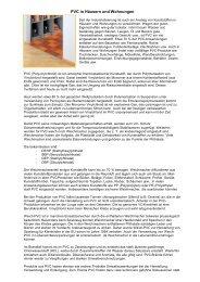 PVC in Häusern und Wohnungen - a1-baubiologie
