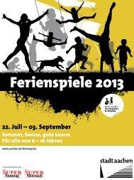 Ferienspielzeitung - Stadt Aachen