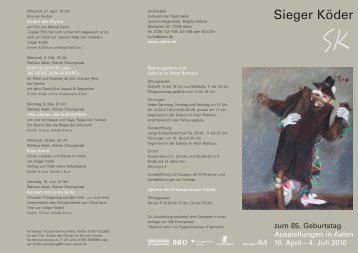 Flyer Ausstellung Sieger Köder (pdf, 1,9 MB) - Stadt Aalen