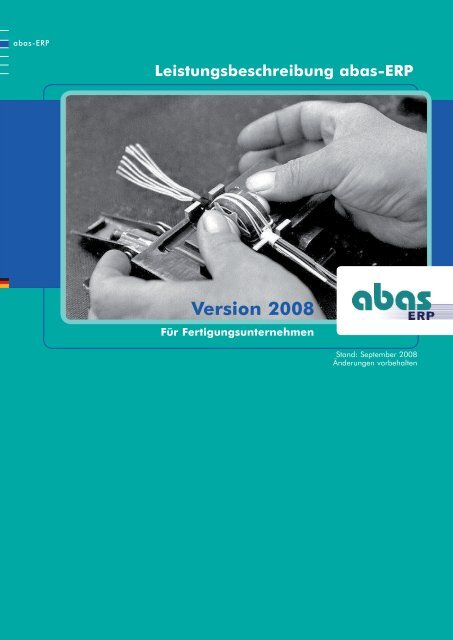Version 2008 - ABAS Software AG