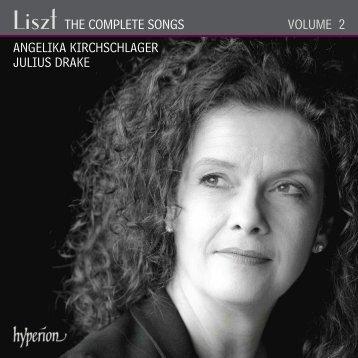 Liszt: The Complete Songs, Vol. 2 - Angelika ... - Abeille Musique