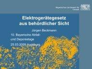 Elektrogerätegesetz aus behördlicher Sicht - Abfallratgeber Bayern