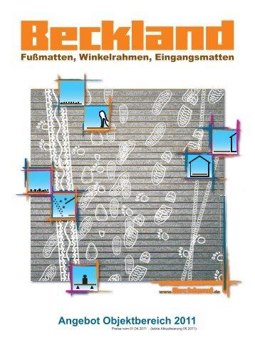 Angebot Objektbereich 2011 - Beckland-Erzeugnisse GmbH & Co. KG