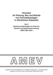 Hinweise für Planung, Bau und Betrieb von Fernmeldeanlagen in ...