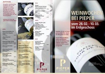 PIEPER Weinprospekt - Pieper Saarlouis